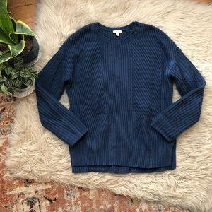 Gap Blue Wool Blend Sweater